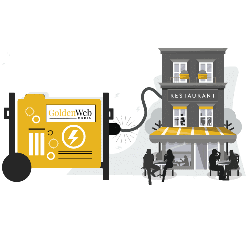 golden web media infographic