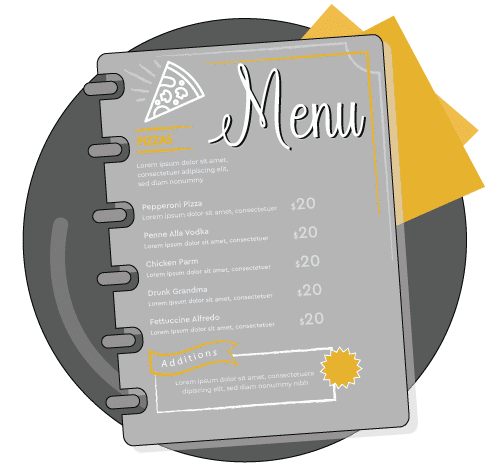 menu design infographic